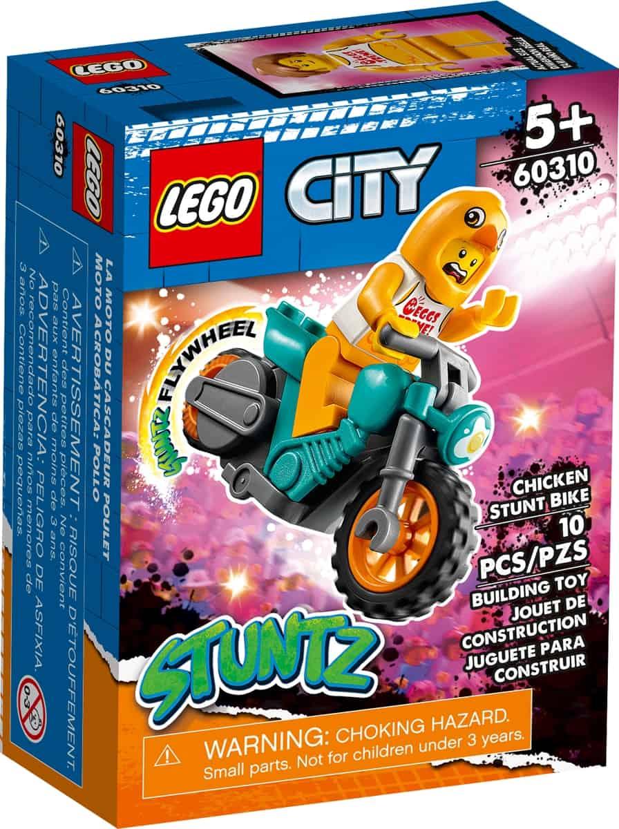 lego 60310 stunt bike della gallina