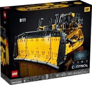 lego 42131 bulldozer cat d11 controllato da app